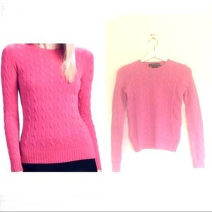 RL Slim Fit Cable Knit Crewneck Cashmere Sweater